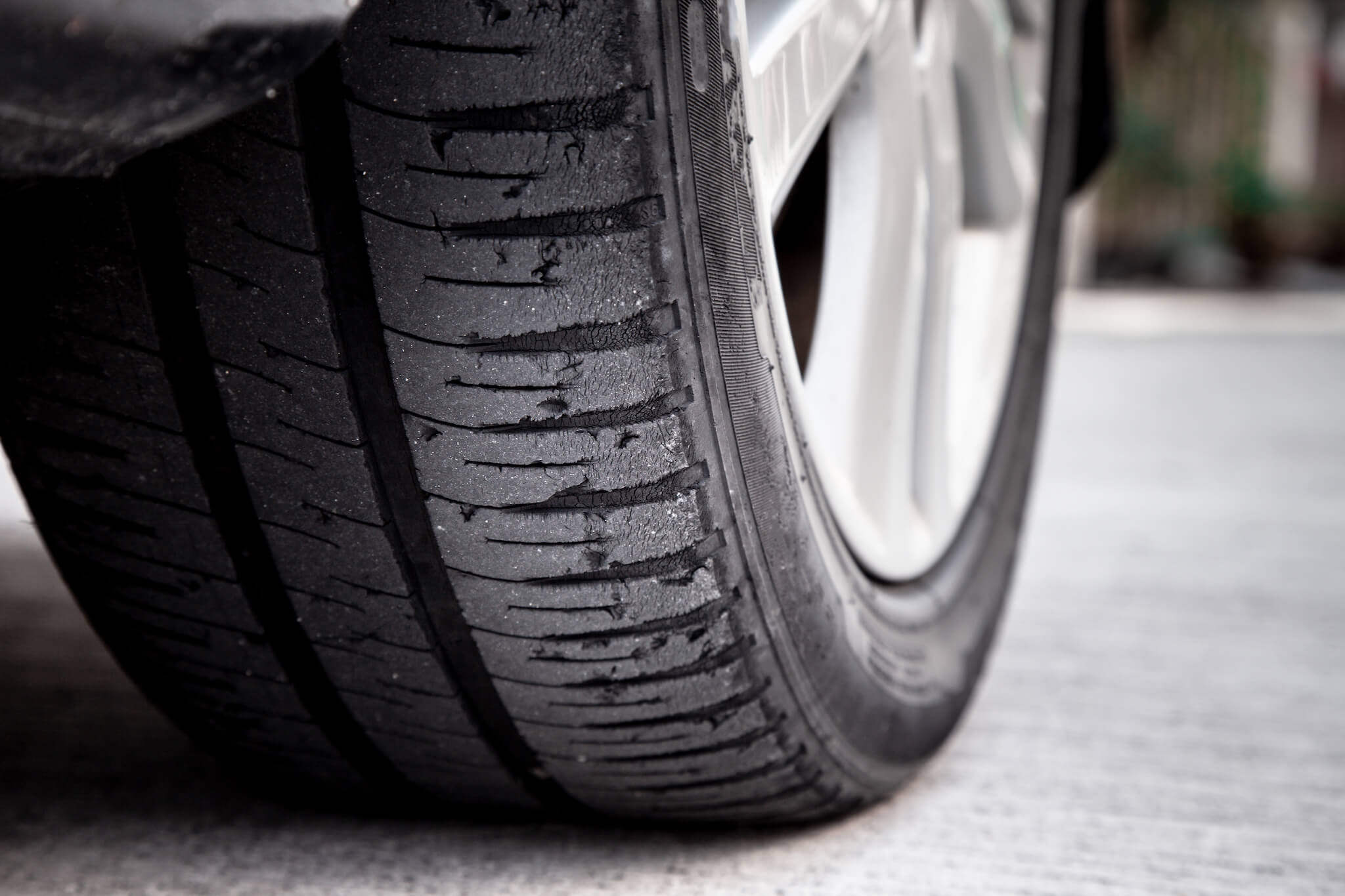 Bald tires are dangerous to drive on.