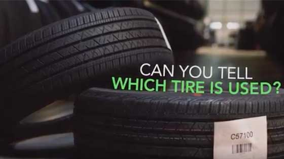 Telling the difference between new and premium used tires can be very difficult to the naked eye.